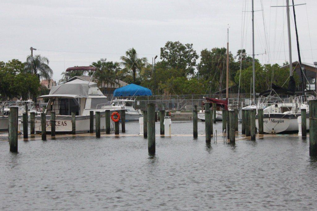 Docks under water