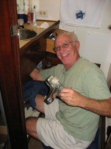 image of John with faucet