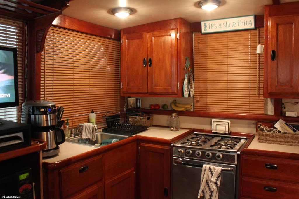 Our new faux wood blinds