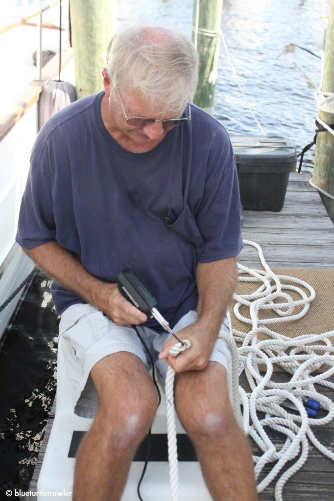 Captain Steve (my Dad) shows us how to make a snubber