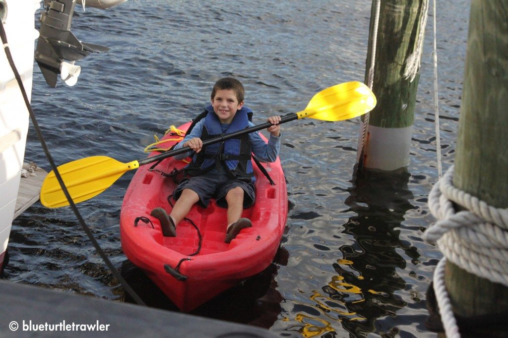 Corey, feeling the need to get aquatic, decides to go kayaking
