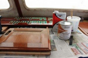 For an interior cabinet door, the Captain's Varnish amber color was perfect