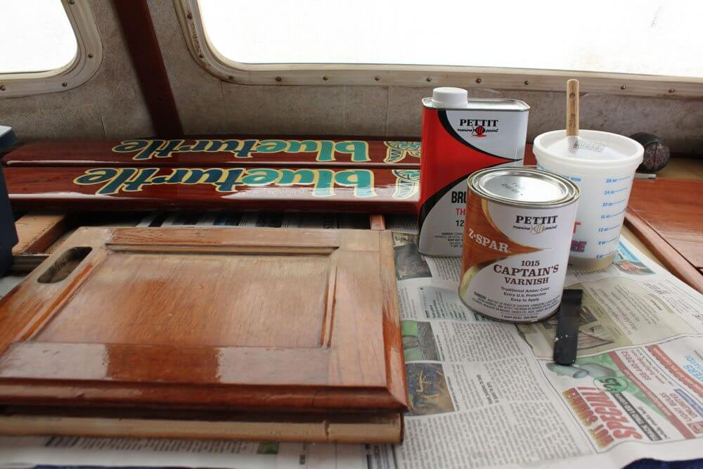 For An Interior Cabinet Door, The Captainu0027s Varnish Amber Color Was Perfect