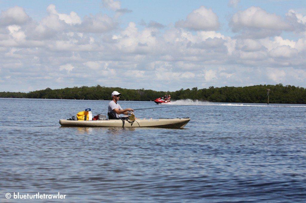 Captain Randy paddling