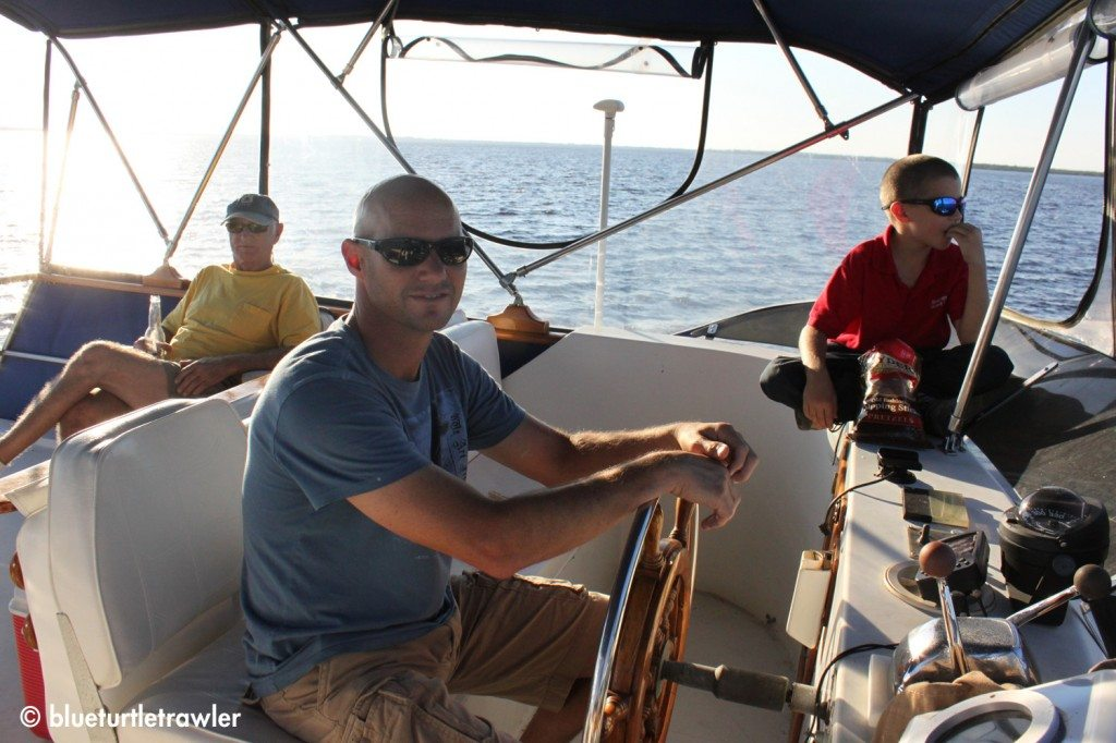 Captain Randy and crew heading back to port