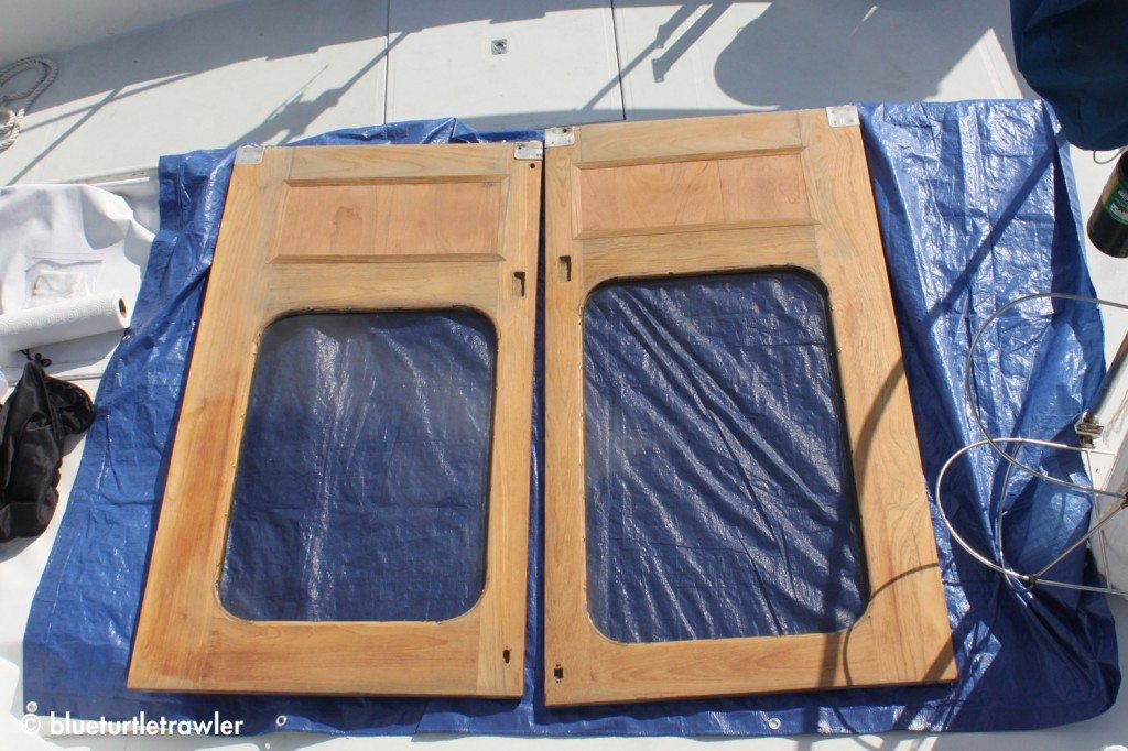 Our doors after Bill fixed and sanded them