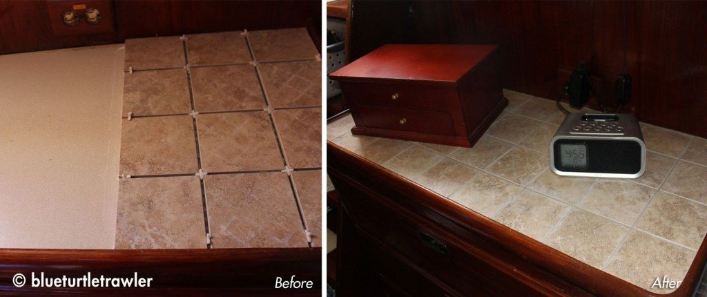 """Our """"nightstand"""" - before and after"""