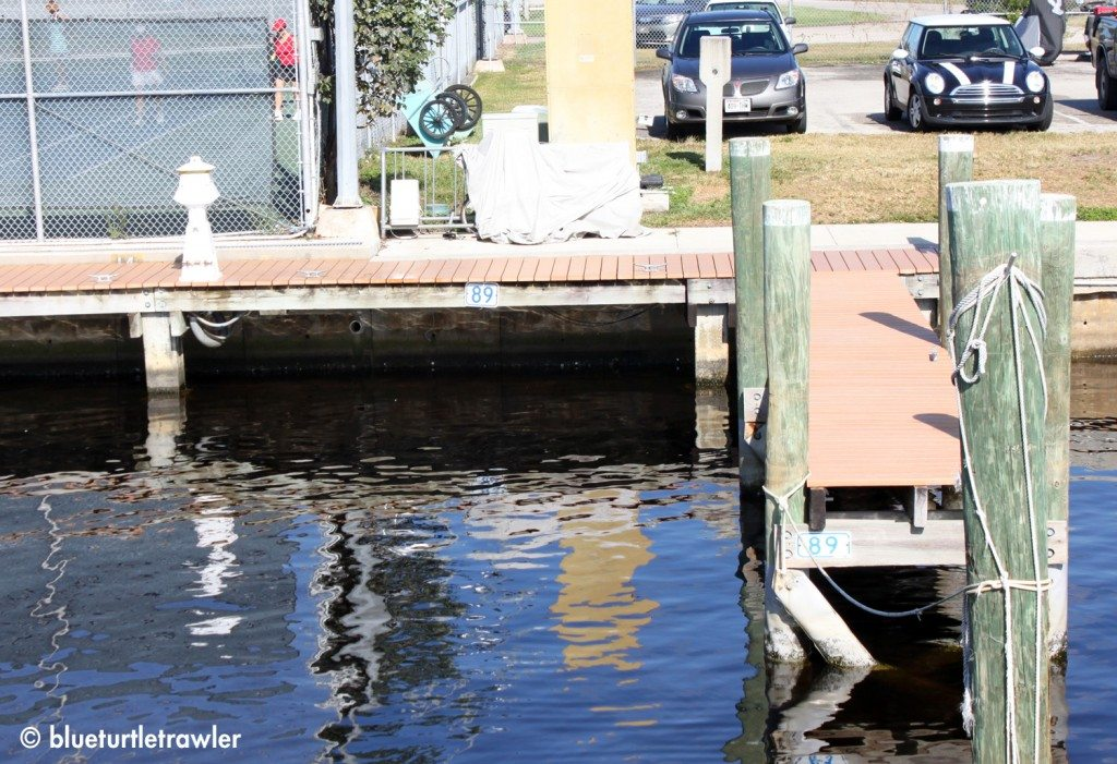 We'll miss our old slip at the Cape Coral Yacht Basin!