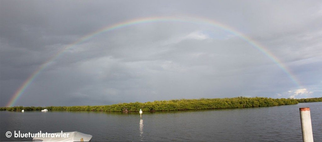 A lovely rainbow after a brief shower on Saturday