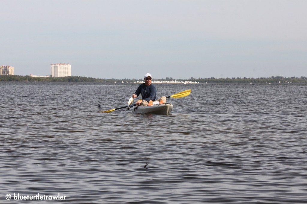 Randy kayaking and fishing