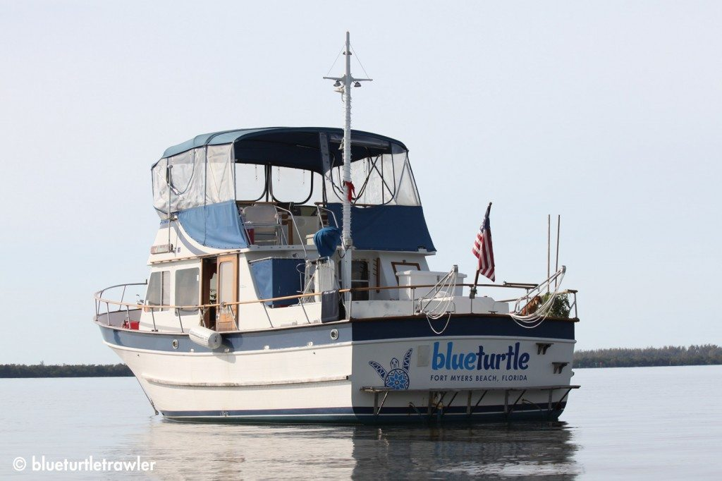 Blue Turtle anchored at Merwin Key