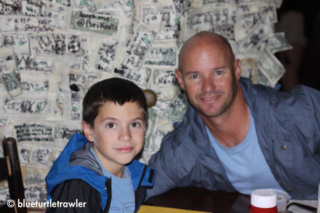 Corey and Randy at Cabbage Key