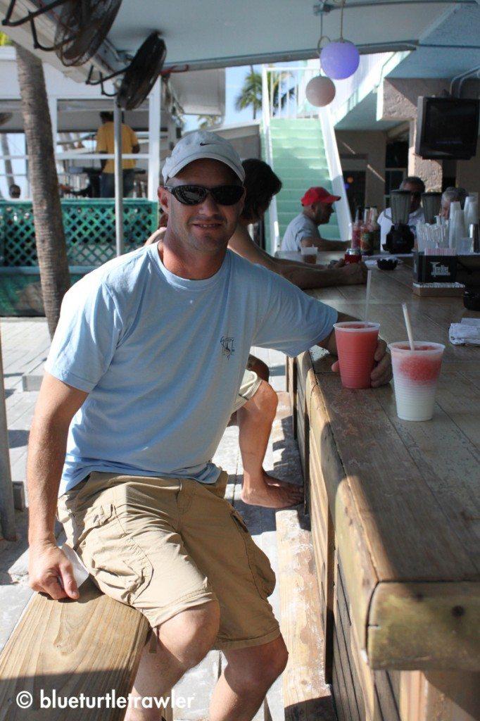 Randy at the tiki bar at Lani Kai