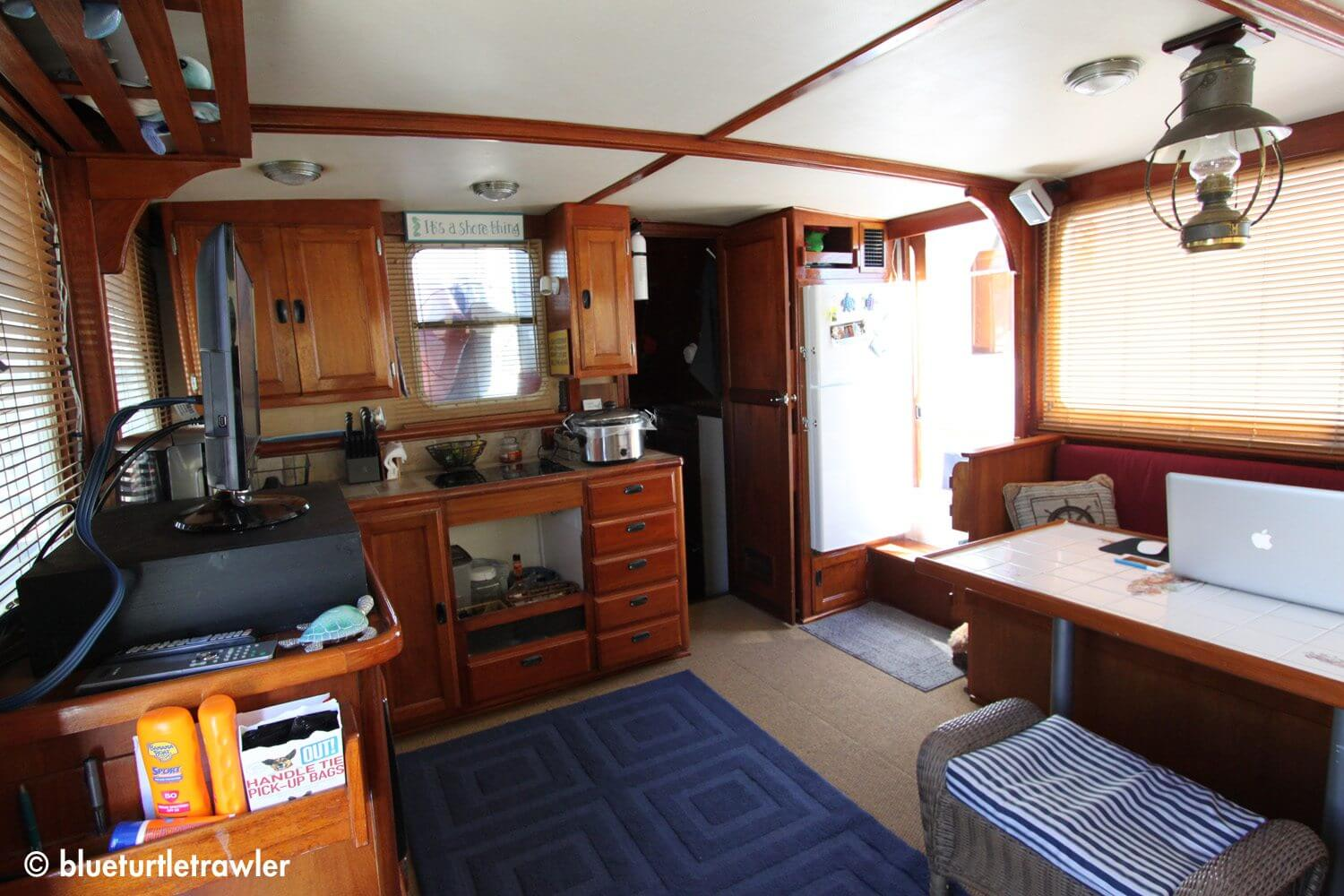 Our trawler's current interior
