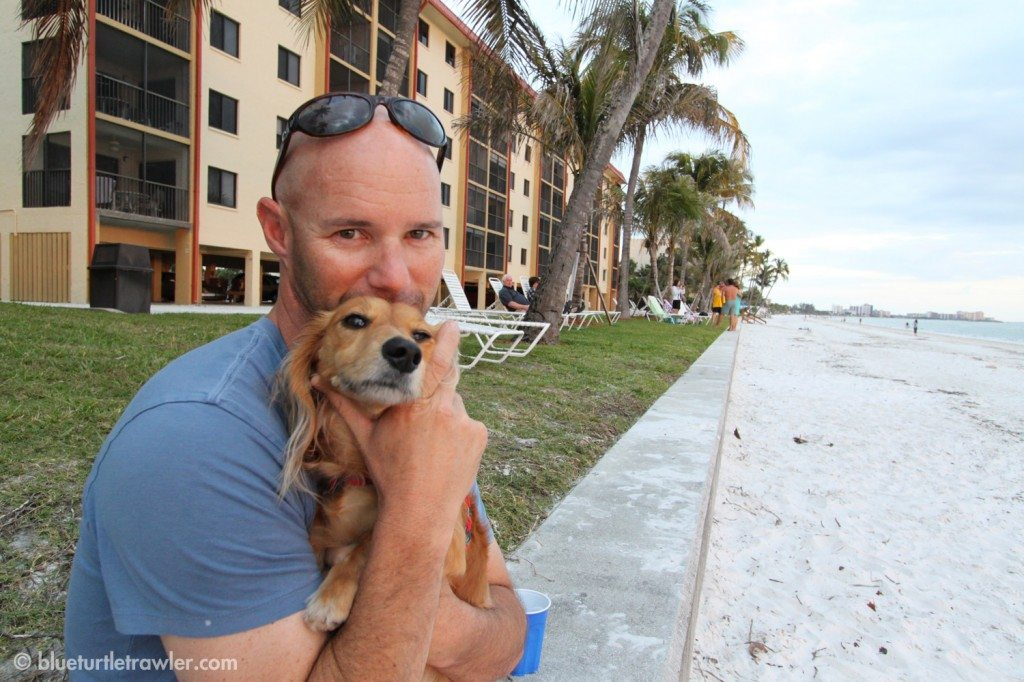 Post project: Randy and the wiener dog at the beach