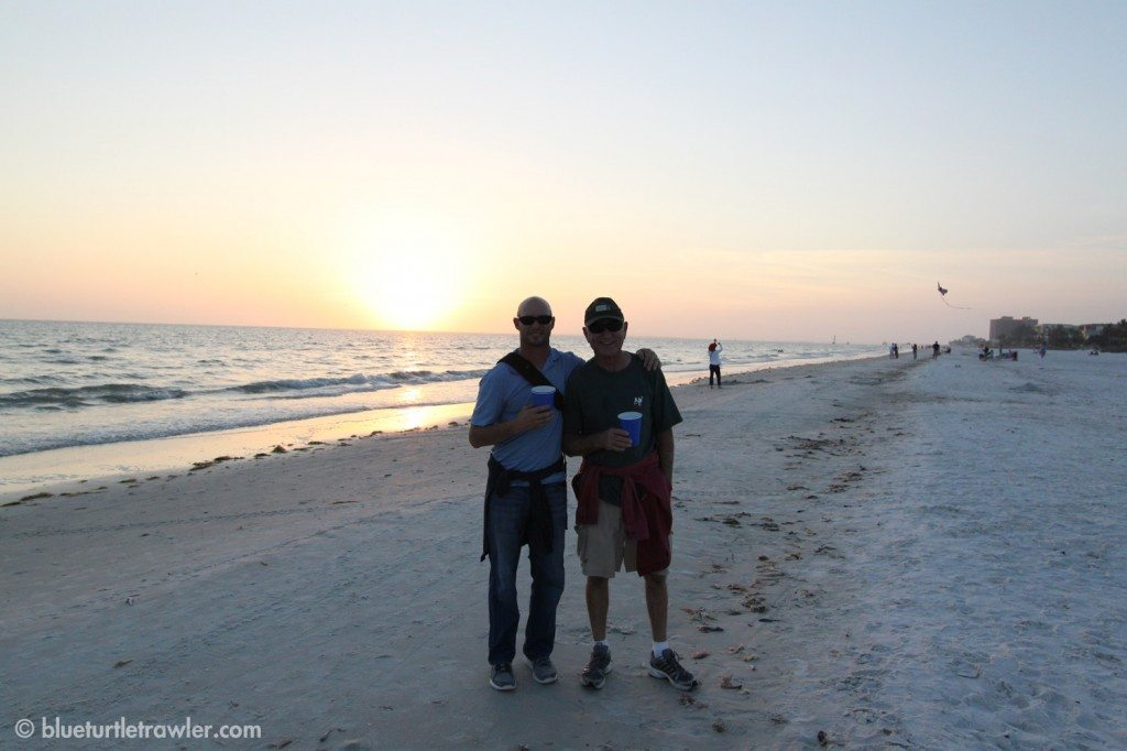 The Kalisik boys on a walk to Junkanoos for dinner