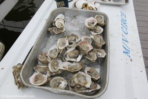Oysters were part of the main course