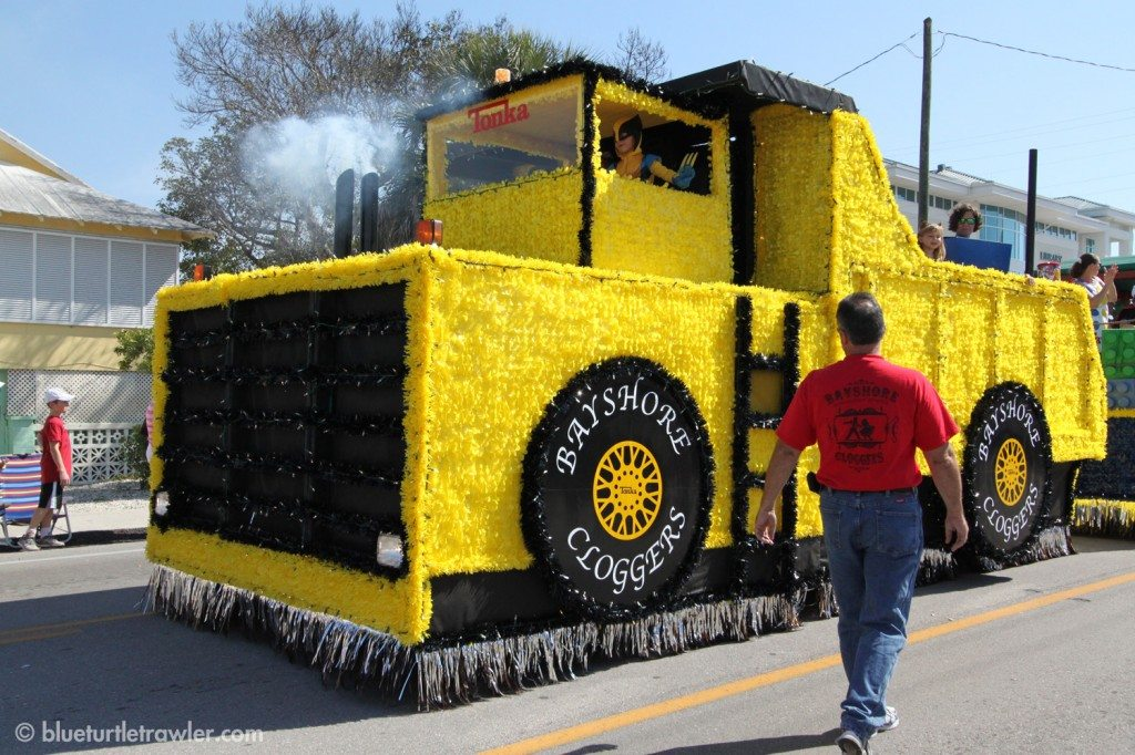 Bayshore Cloggers had an awesome toy-themed float with kids clogging