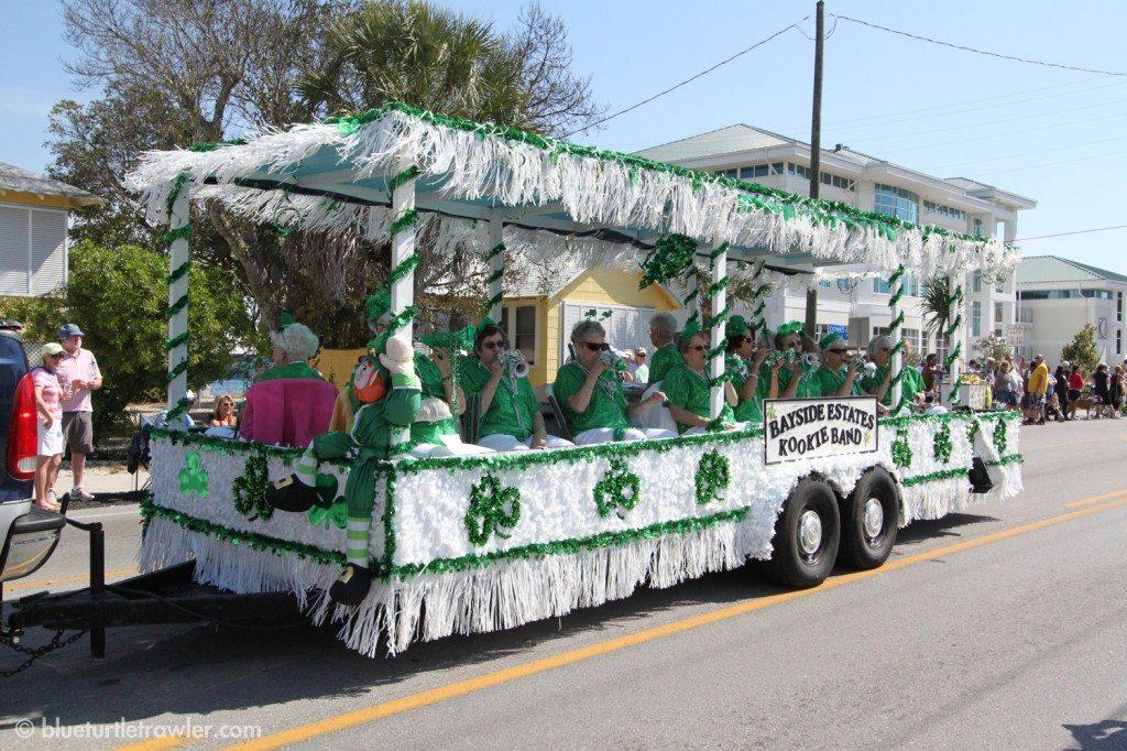 The Bayside Estates Kookie Band kazooed their way down the parade