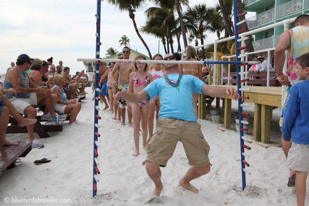 Randy takes his turn at the limbo contest
