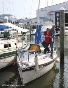 "Corey and Randy aboard ""Sweet Pea"""