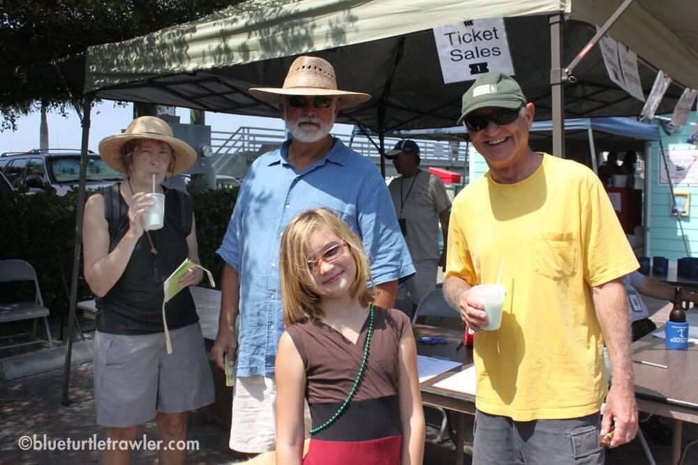 Mary Kay, Tom, Maddie and Johnny at the Mantanzas Inn Cruiser Appreciation Day