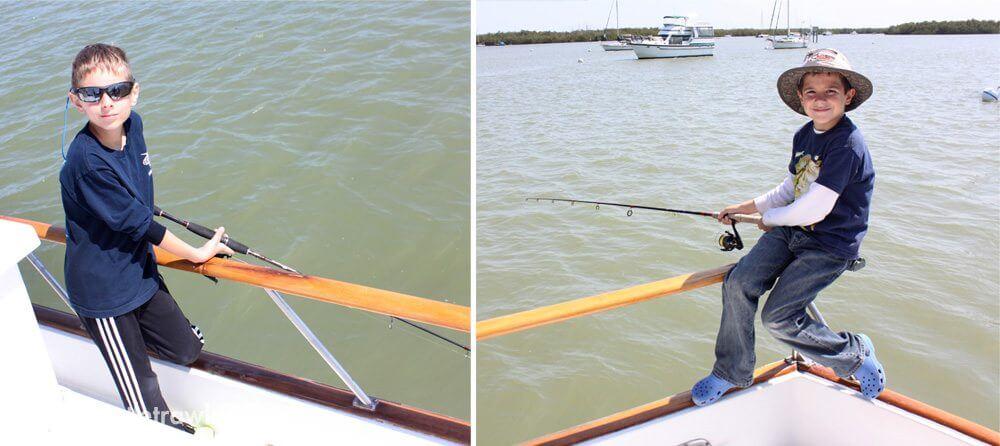 Corey and Jack enjoy some fishing