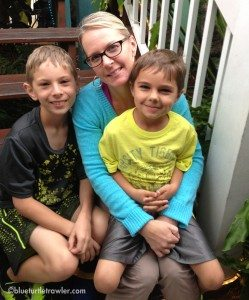 My sister and adorable nephews at Parrot Key