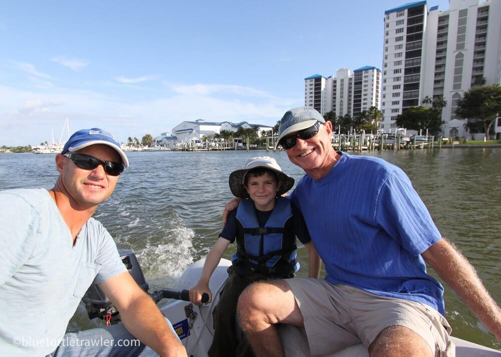 The Kalisik boys on our dinghy ride