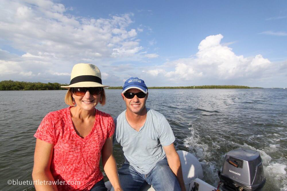 Randy and I on our dinghy ride there