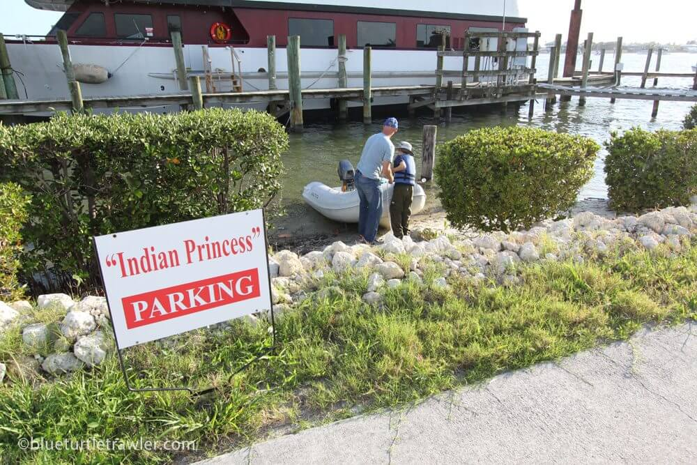 Indian Princess parking for cars and dinghies