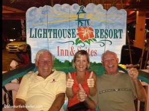 """Howard, me and Johnny (Randy's Dad) in the """"big chair"""" at the Lighthouse"""