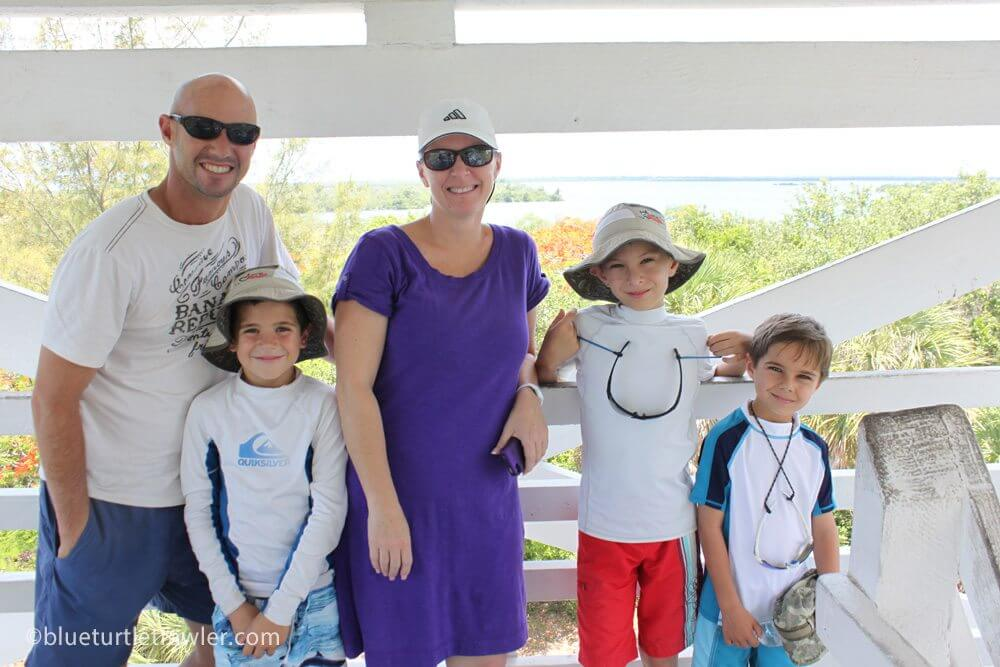 Our gang at the top of the Cabbage Key water tower
