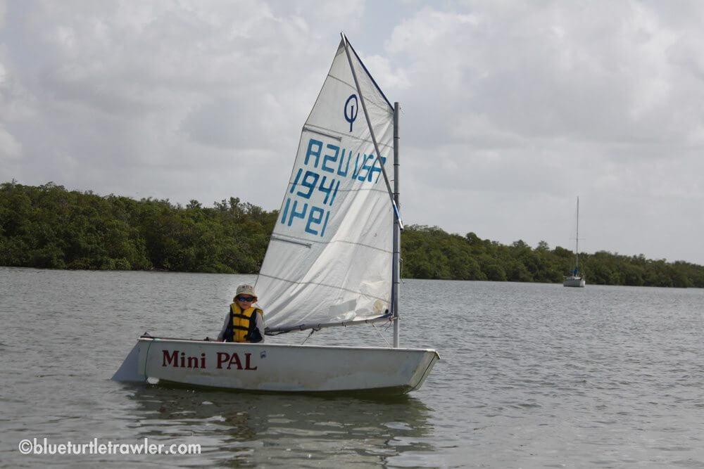 A boy and his sail boat...Corey sailing solo