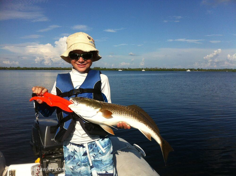 Corey's keeper redfish that became our dinner Sunday evening