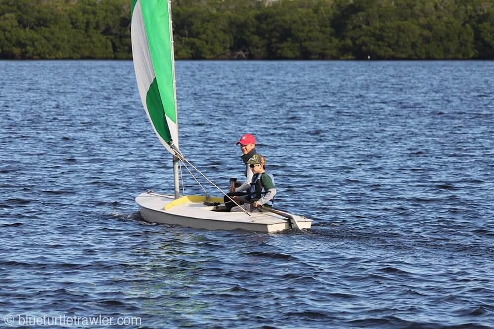On Sunday, Corey took me for a ride on the sunfish