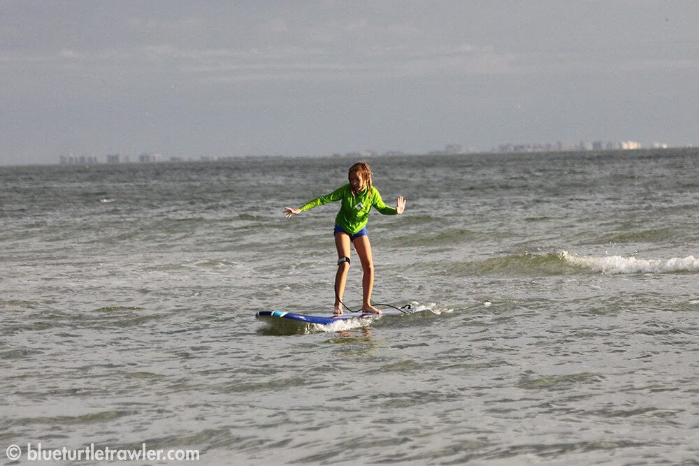 Maddie shows her surfer style