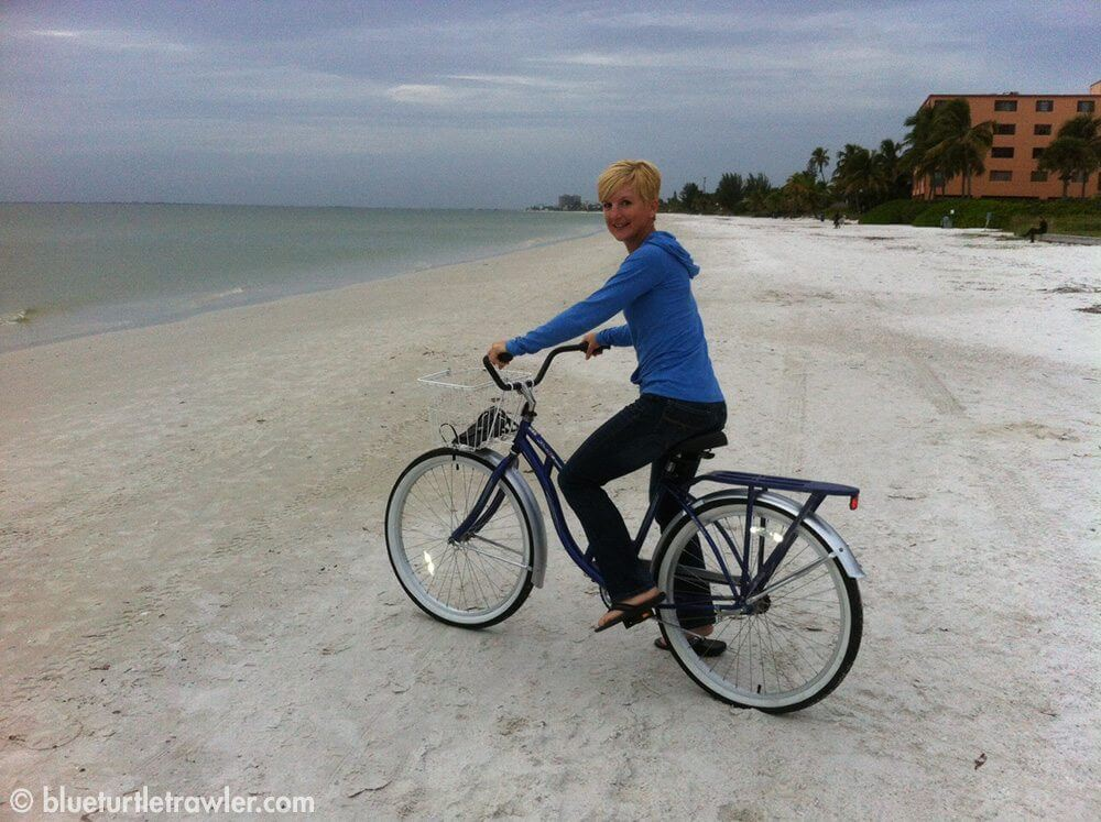 photo of bike on beach