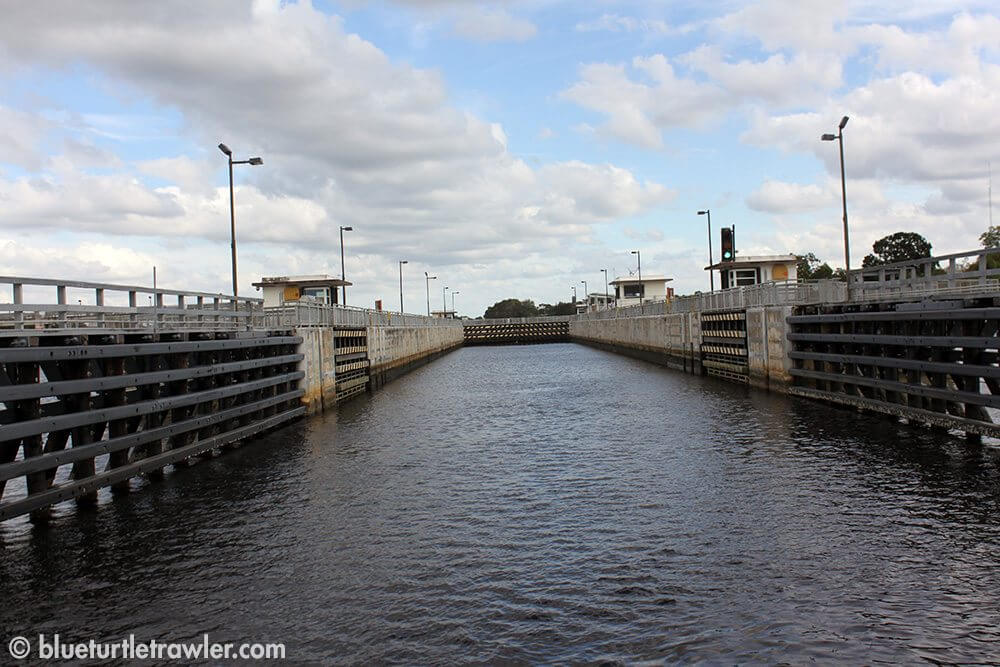 Driving into the locks