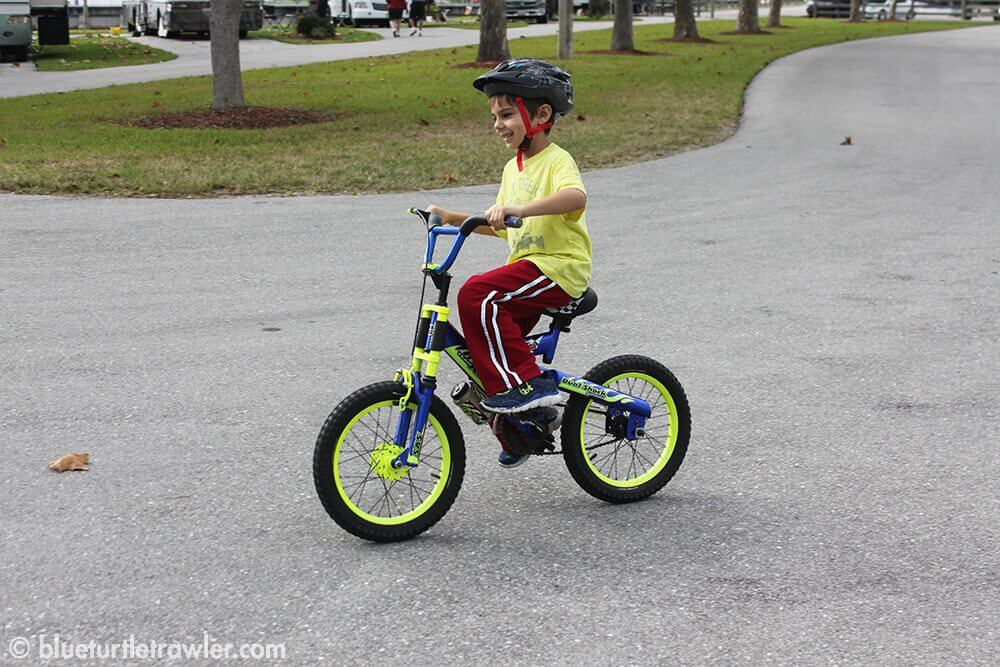 My nephew Ryan showing off his newly acquired bike riding skills