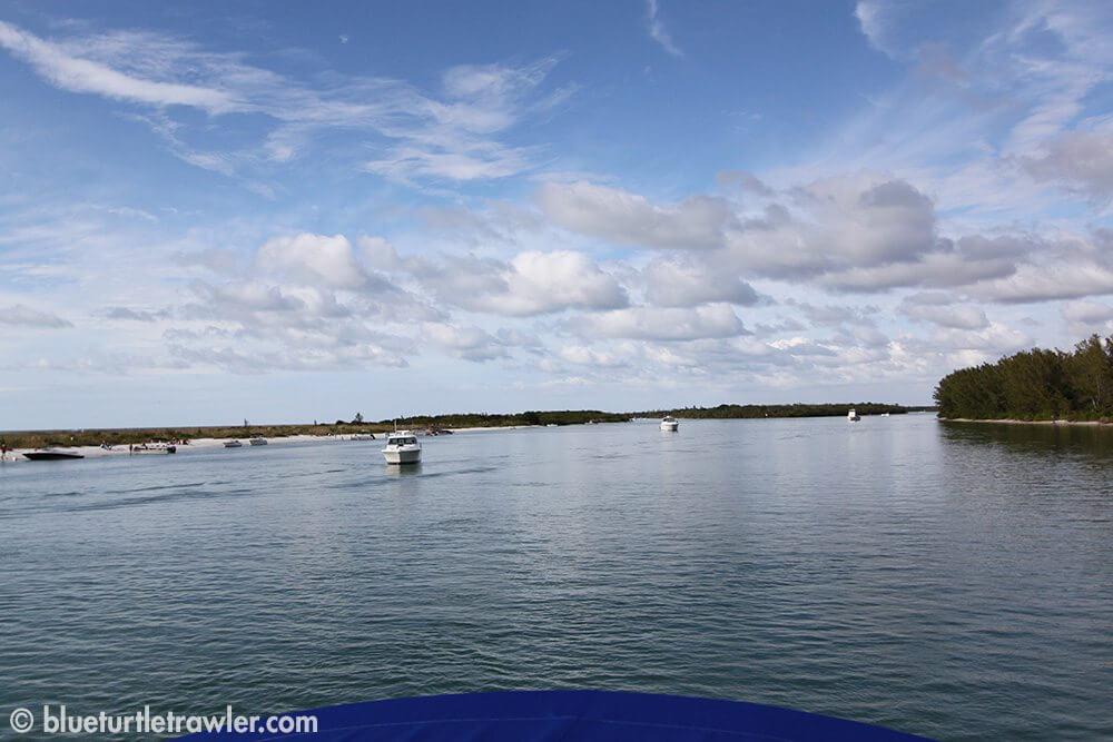 Photo of Keewaydin Island taken from Blue Turtle bridge
