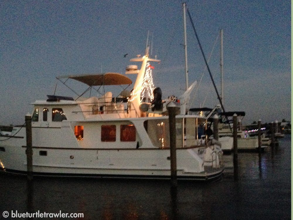 Pretty lights on a 48' DeFever