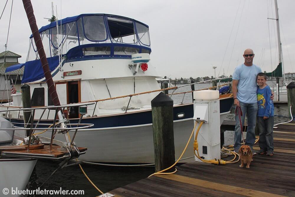 Blue Turtle settled into her slip at Naples City Docks