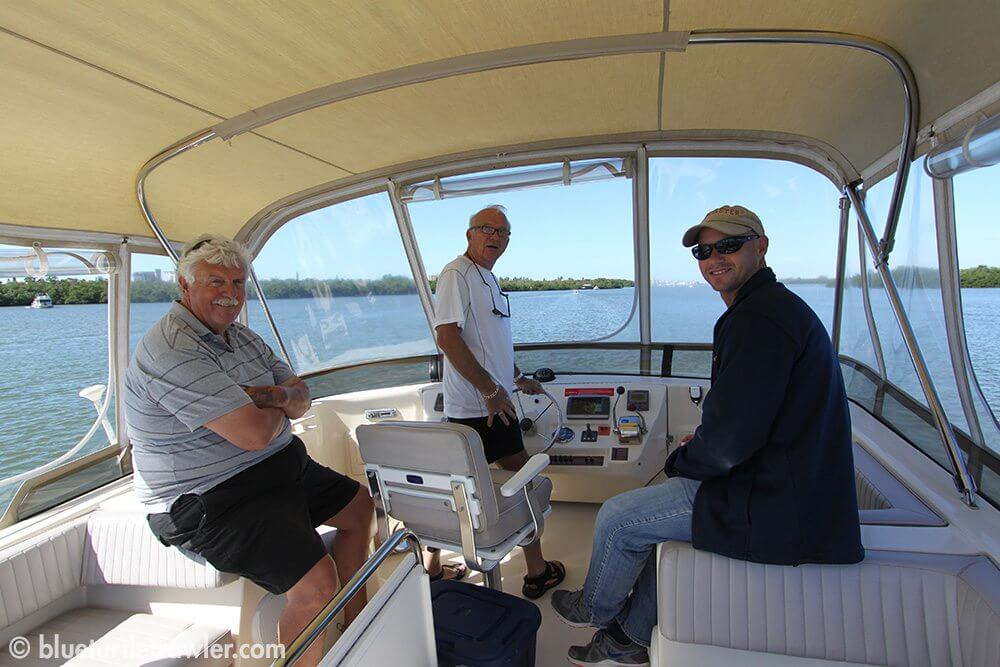 Captain Dick, Kevin and Randy on the bridge