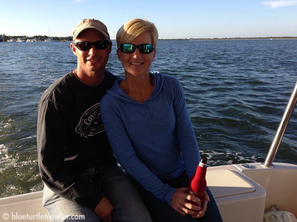 Randy and I enjoying the cruise