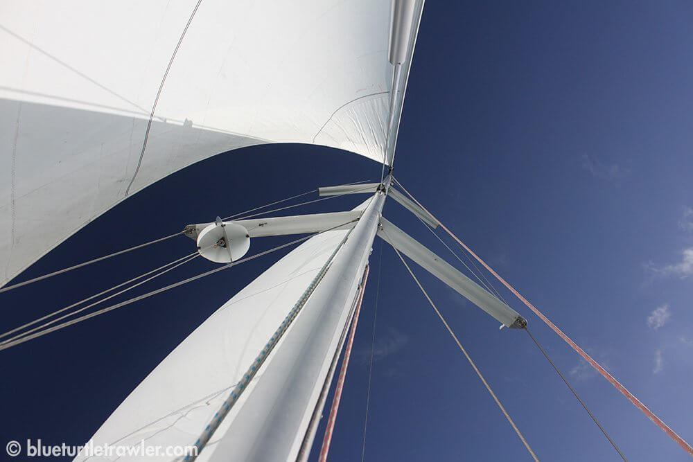 Sails were up on Head Over Keels