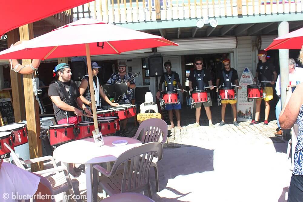 The Marcato Drumline playing with Tommy V. at The Beach Pub