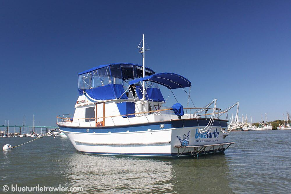 Blue Turtle at her spot in the mooring field