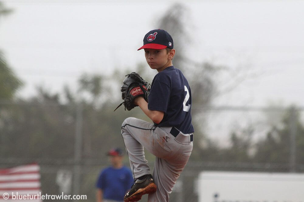 Jack pitching at his game