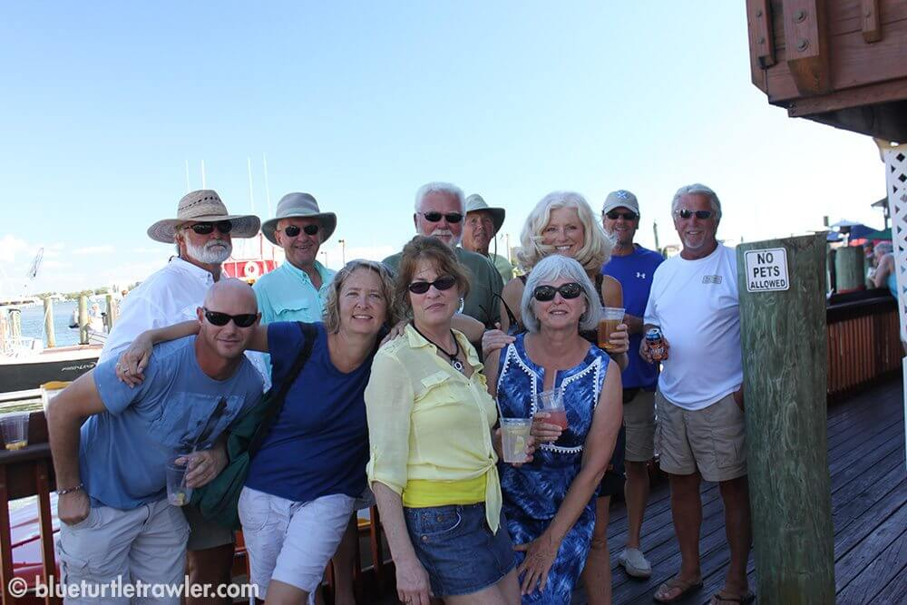 Dinghy excursion and a Mardi Gras dock party